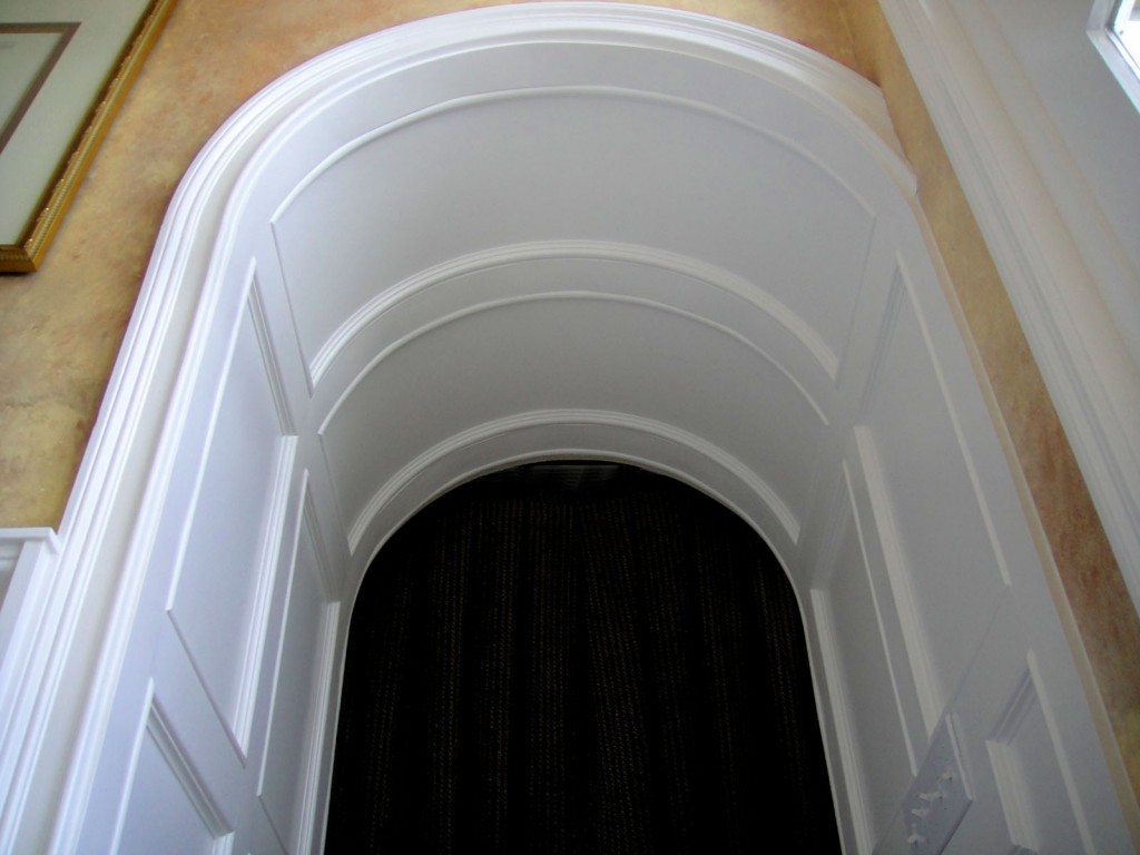 Paneled Arched Ceiling Passageway 1024x768 Architectural Detailing for a Foyer