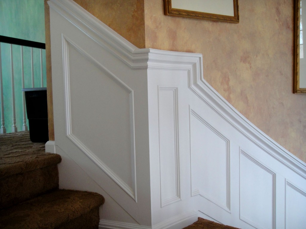 Staircase Wainscot Return 1024x768 Architectural Detailing for a Foyer