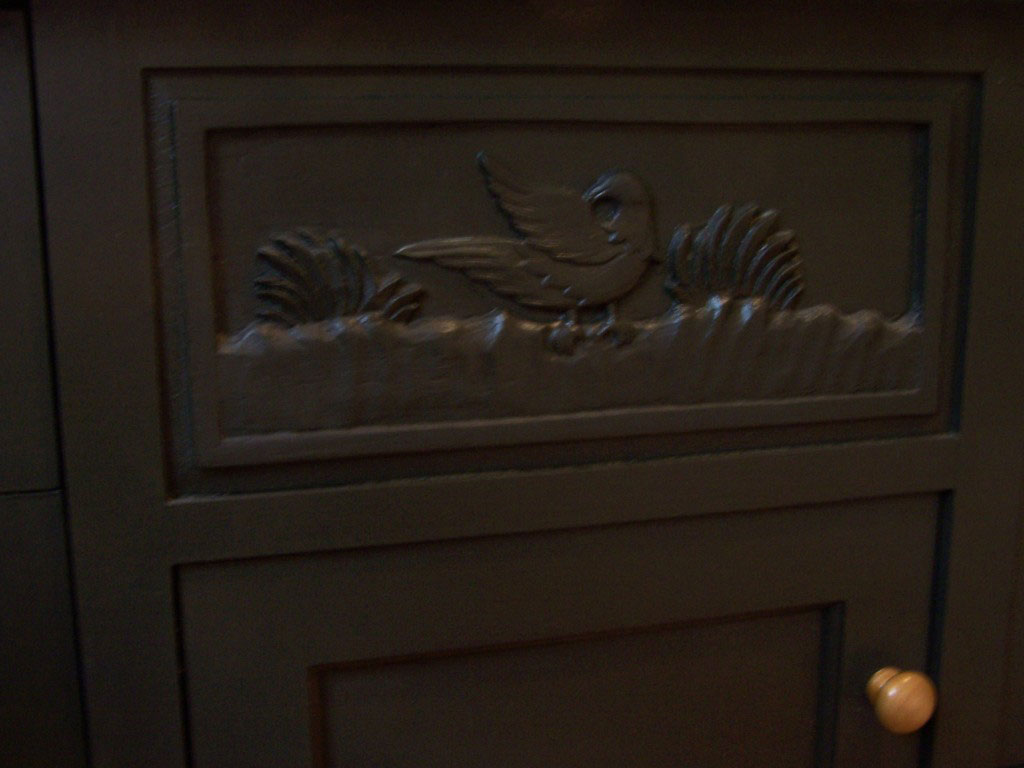 carved panel2 1024x768 A Cabinetmaker's Bathroom