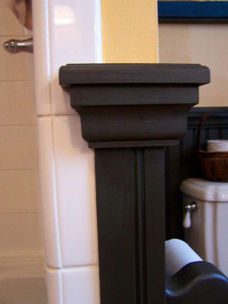wainscot2 768x1024 A Cabinetmaker's Bathroom