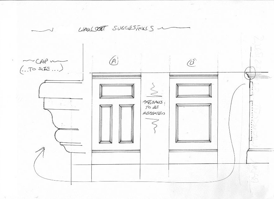 1 wains sketch  A High End Mudroom