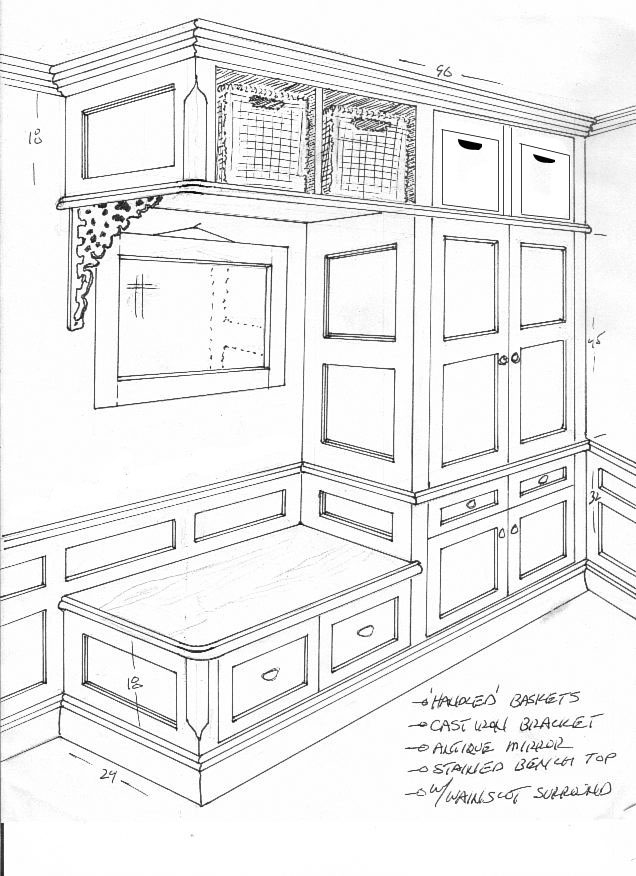 3 closet rendering A High End Mudroom