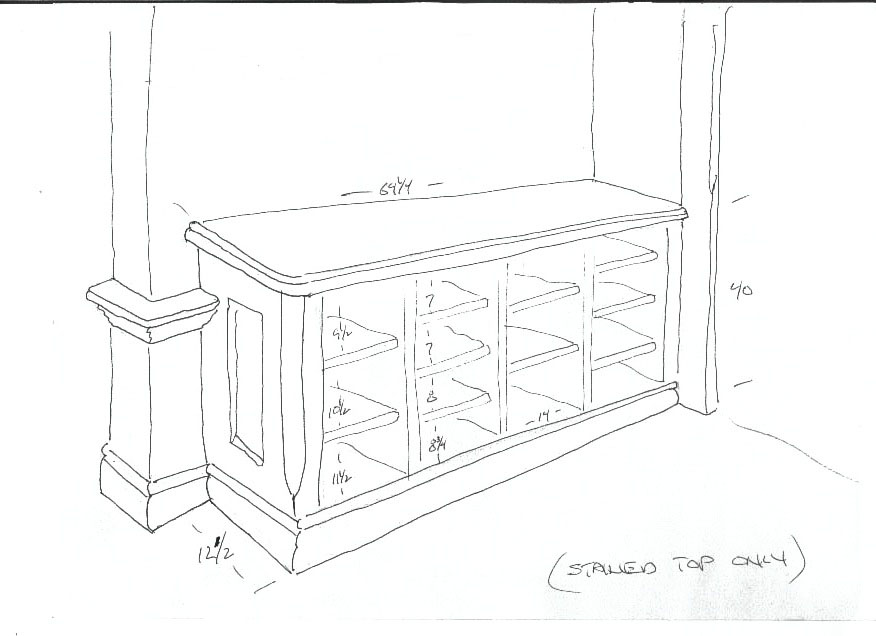 5 shoes sketch A High End Mudroom