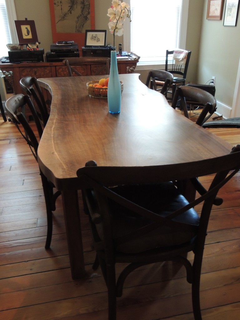 shine 768x1024 Natural Edge Walnut Dining Table