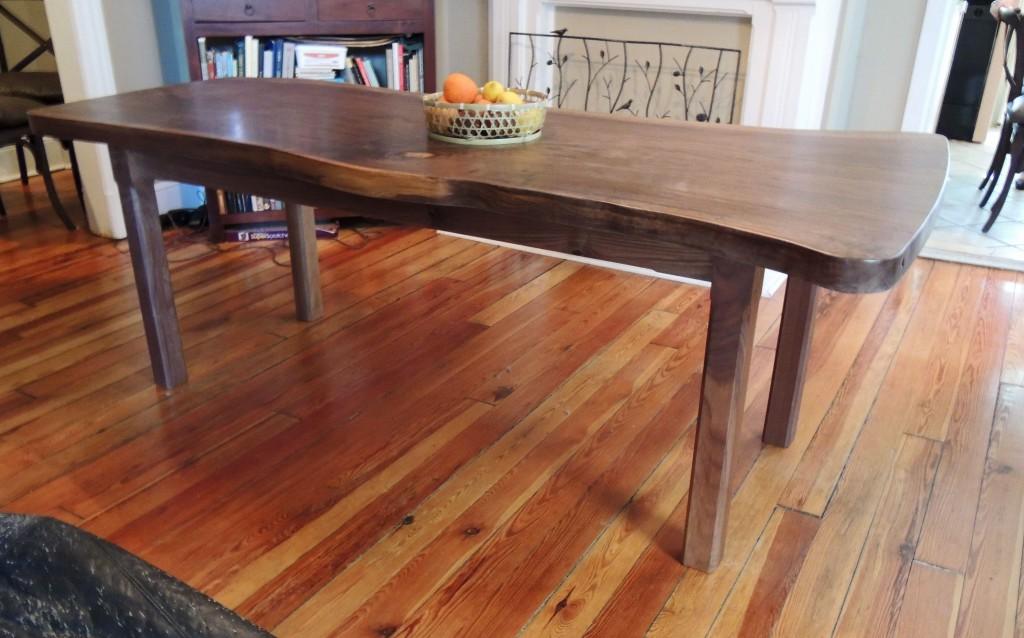 table 1024x638 Natural Edge Walnut Dining Table