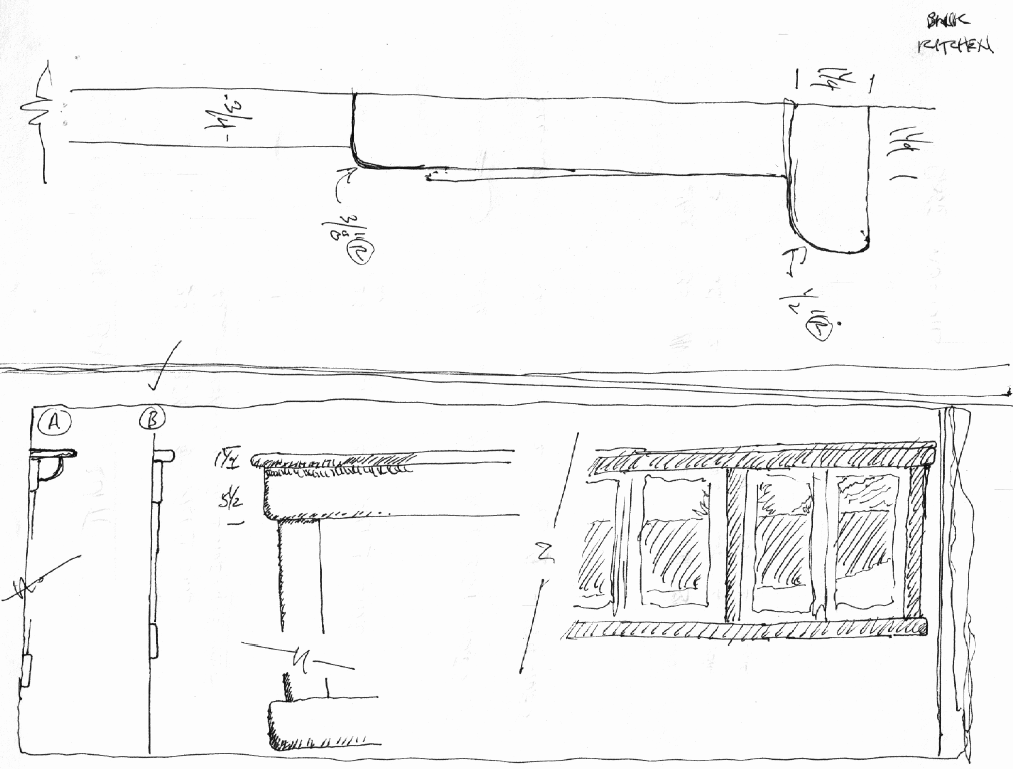 casing sketch Making a Sunroom (From a Screened in Porch)
