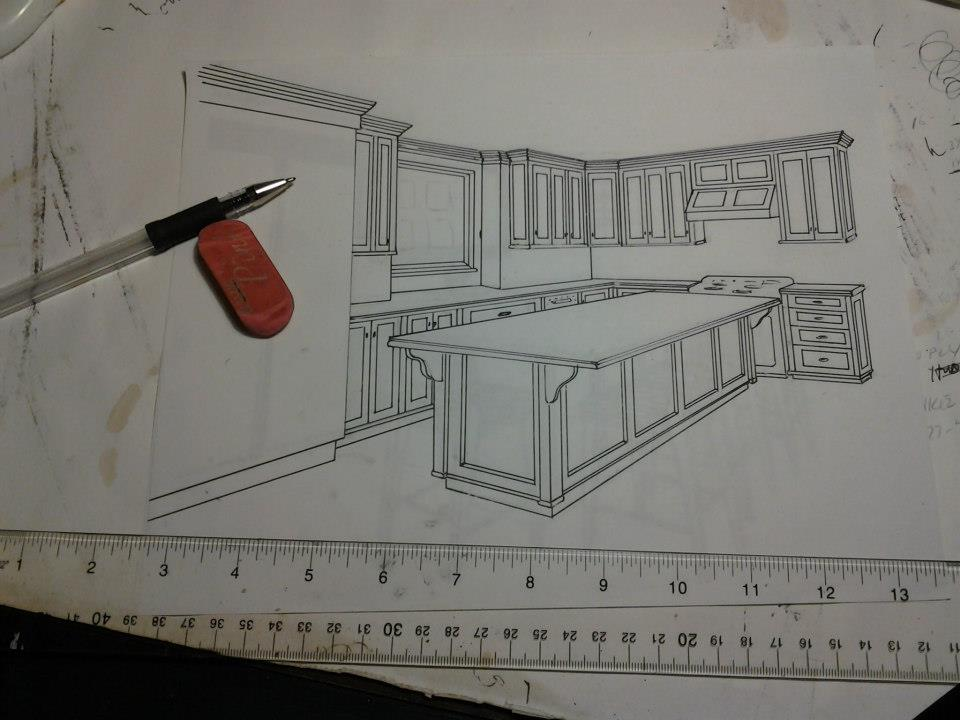 drawing 1 A Hand Made Kitchen