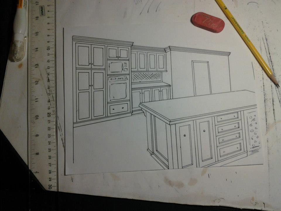 drawing 2 A Hand Made Kitchen